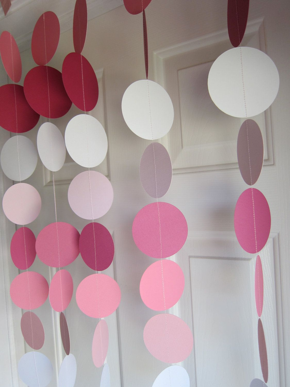 Paper Garland Decorations, Birthday Party, Weddings, Bridal Shower ...