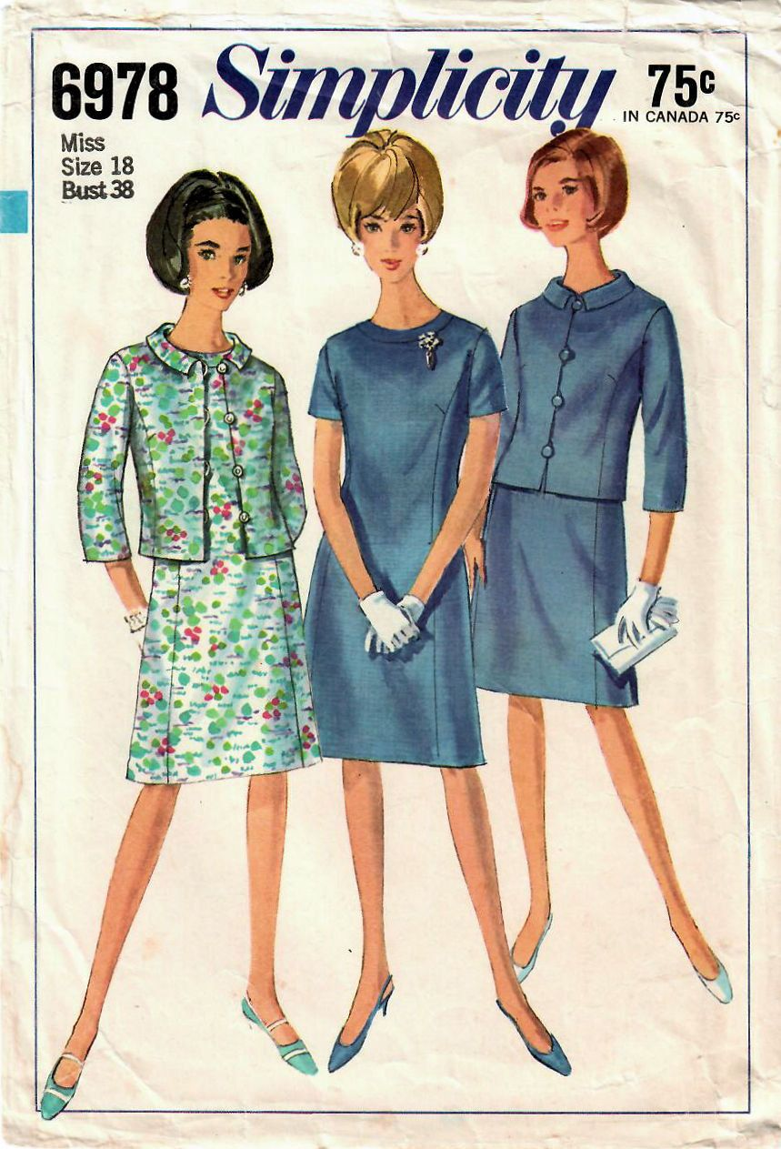 S simplicity vintage sewing pattern misses aline dress