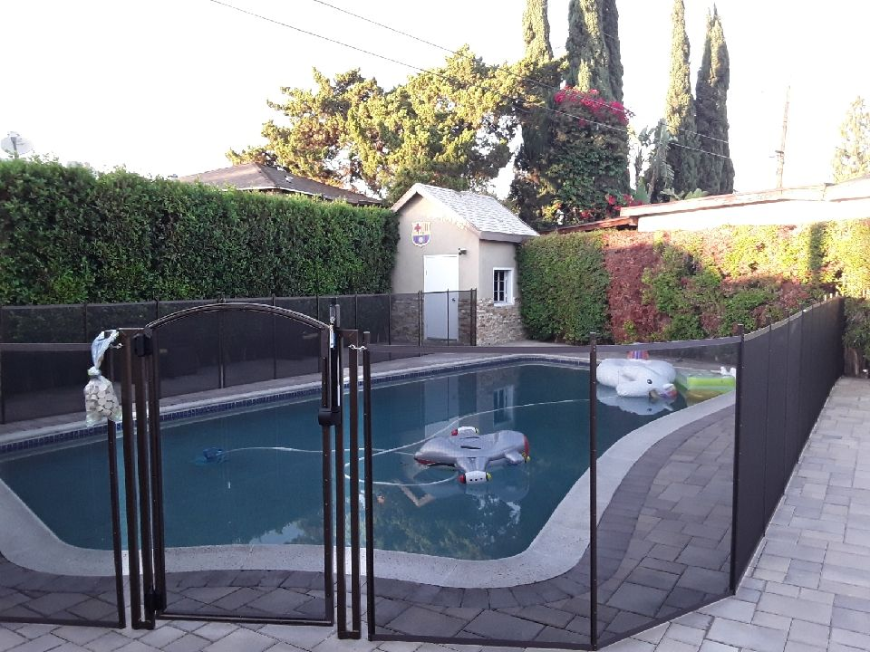 Pool Safety Fence Pool safety fence, Pool safety, Paver deck