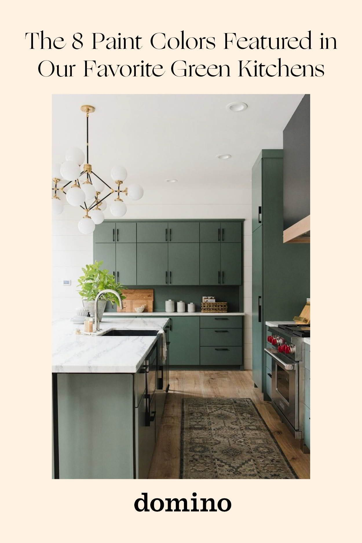 11 Green Kitchen Cabinet Paint Colors We Swear By In 2020 Painted Kitchen Cabinets Colors Green Kitchen Cabinets Green Kitchen Walls