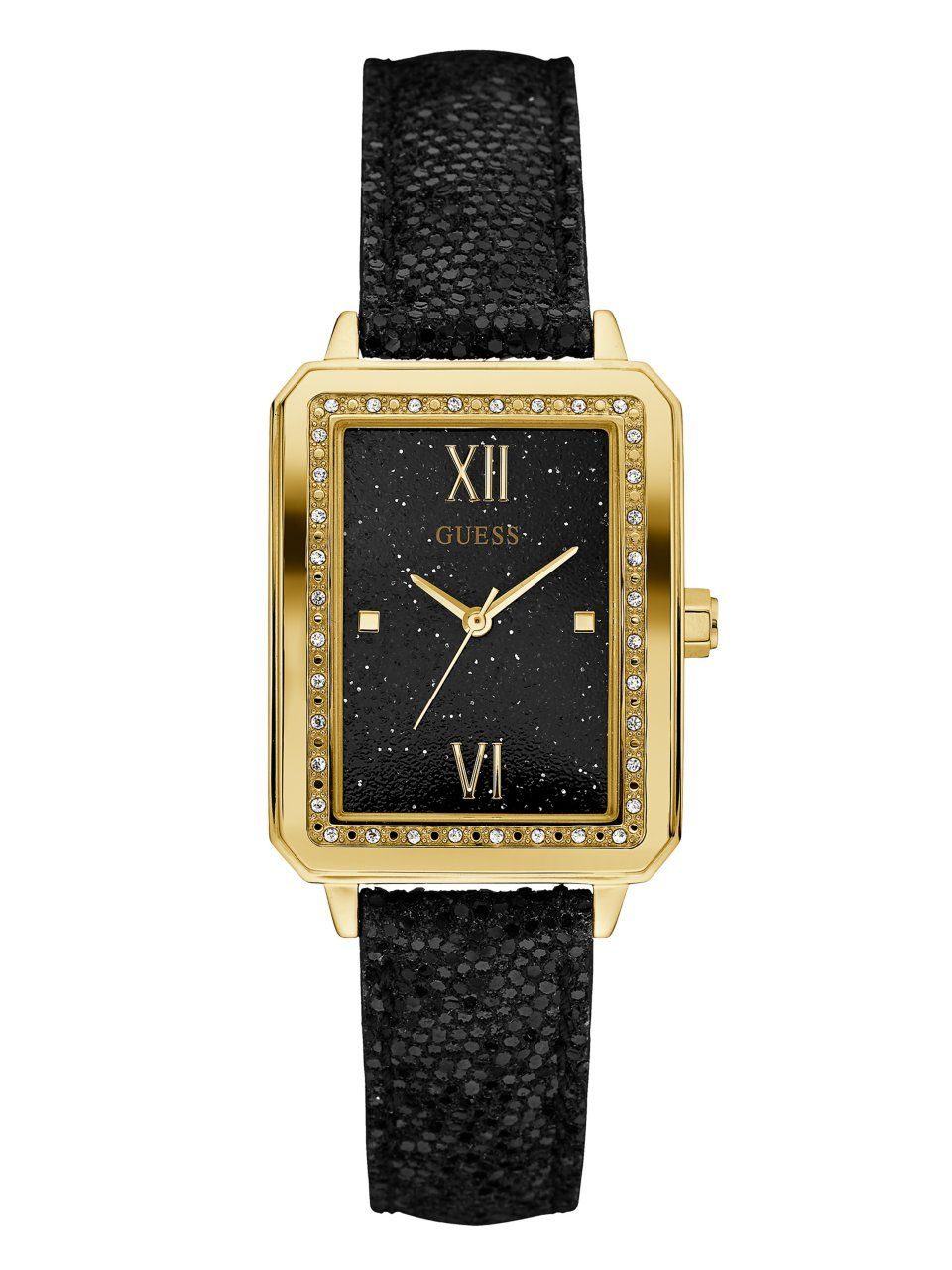 82c395ce4157 Black and Gold-Tone Rectangle Watch