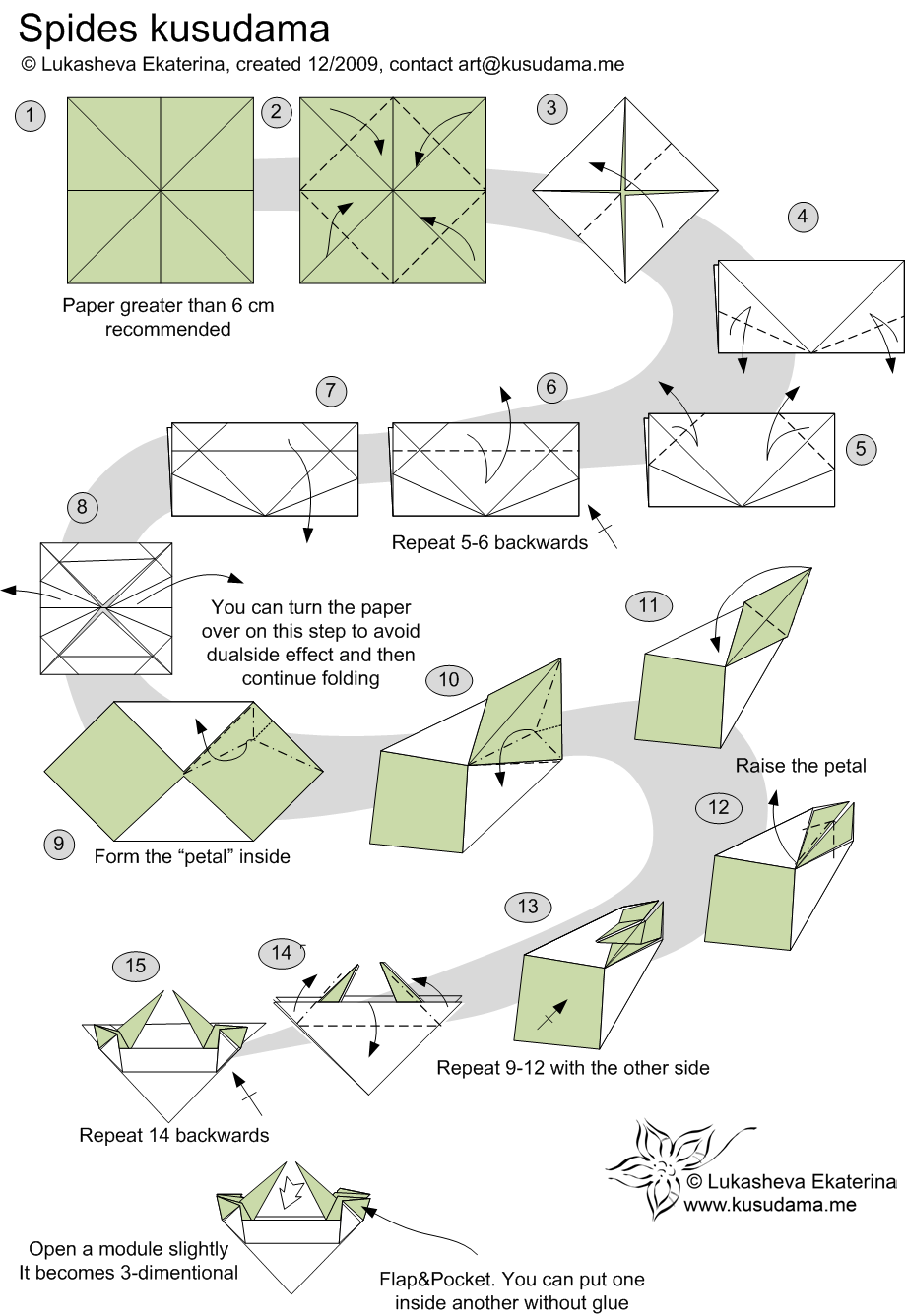 Diagram For Spides Floral Kusudama All About Paper Pinterest Origami Diagrams