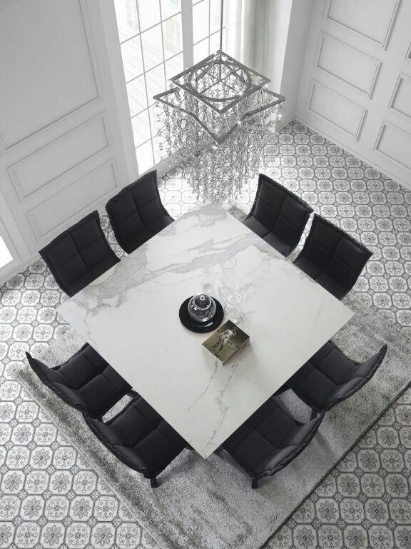 Mesa de centro Erba rectángular con tapa en mármol y