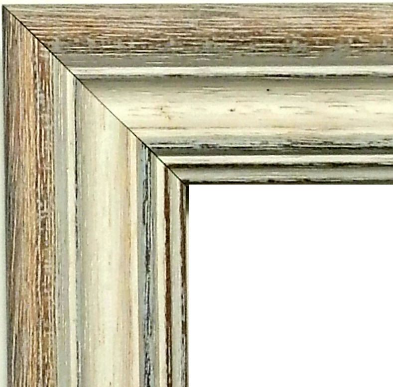 20 ft - White Barnwood Picture Frame Moulding Distressed Rustic ...