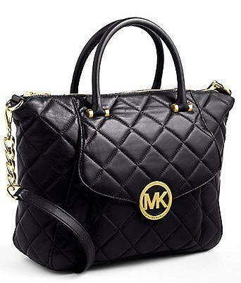 MICHAEL MICHAEL KORS Fulton Quilted Leather Satchel Bag Black ... : michael kors fulton quilt - Adamdwight.com