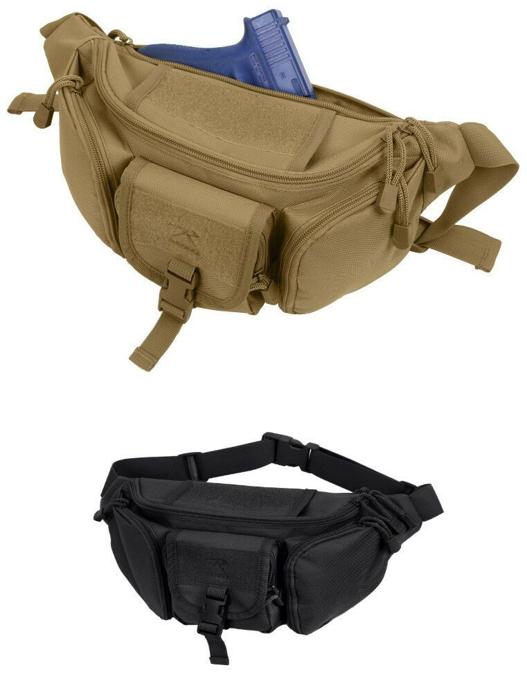 2888d089ef5df6 Tactical Concealed Carry Fanny Waist Pack CCW Bag Coyote Brown Rothco 4956