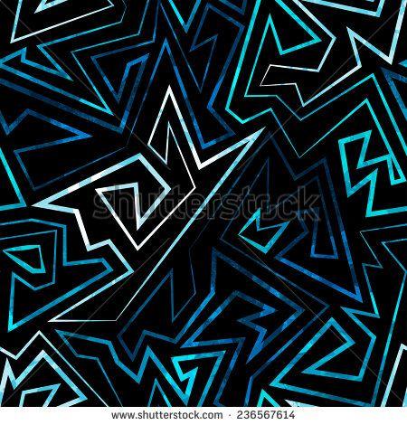 blue neon seamless pattern