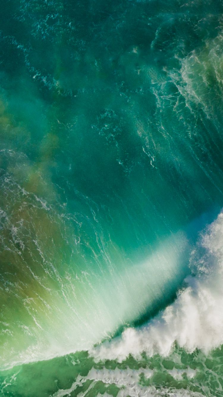 Ios 10 Iphone 6 Wallpaper S Izobrazheniyami Okeanskie Volny