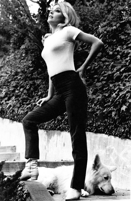 lovesharontate Sharon Tate at Jay Sebring's home, 1965