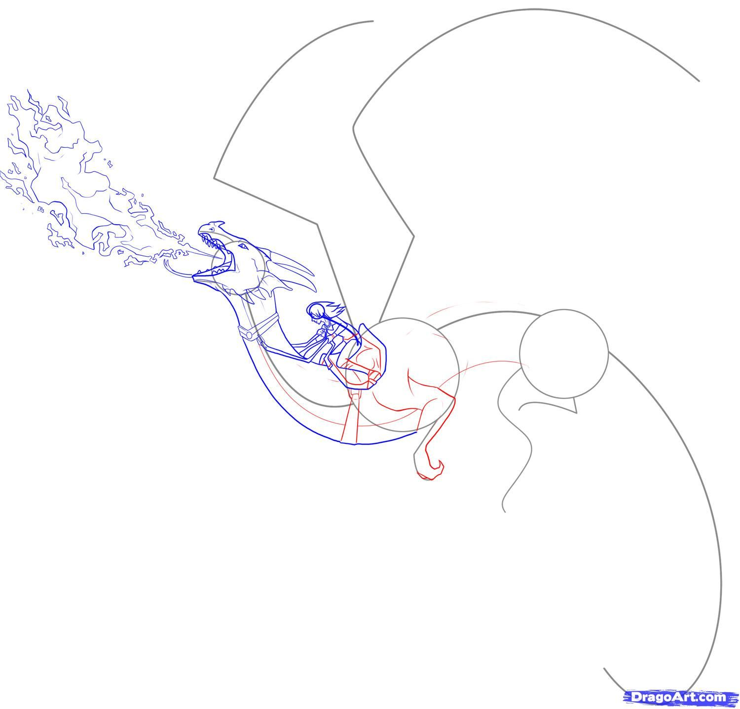 How to draw a dragon rider step 5 dragon pinterest dragon how to draw a dragon rider step 5 ccuart Images