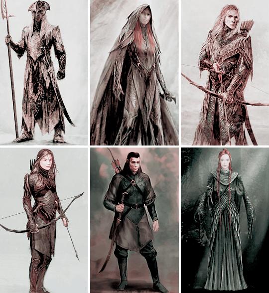 THE HOBBIT CONCEPT ART  Elves of Mirkwood