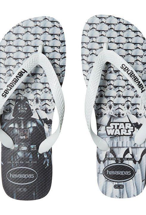 Havaianas Star Wars Flip-Flops (White/White) Men's Sandals - Havaianas,