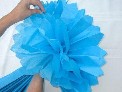 Design Dazzle: How To Make Pom Pom Tissue Flowers - #