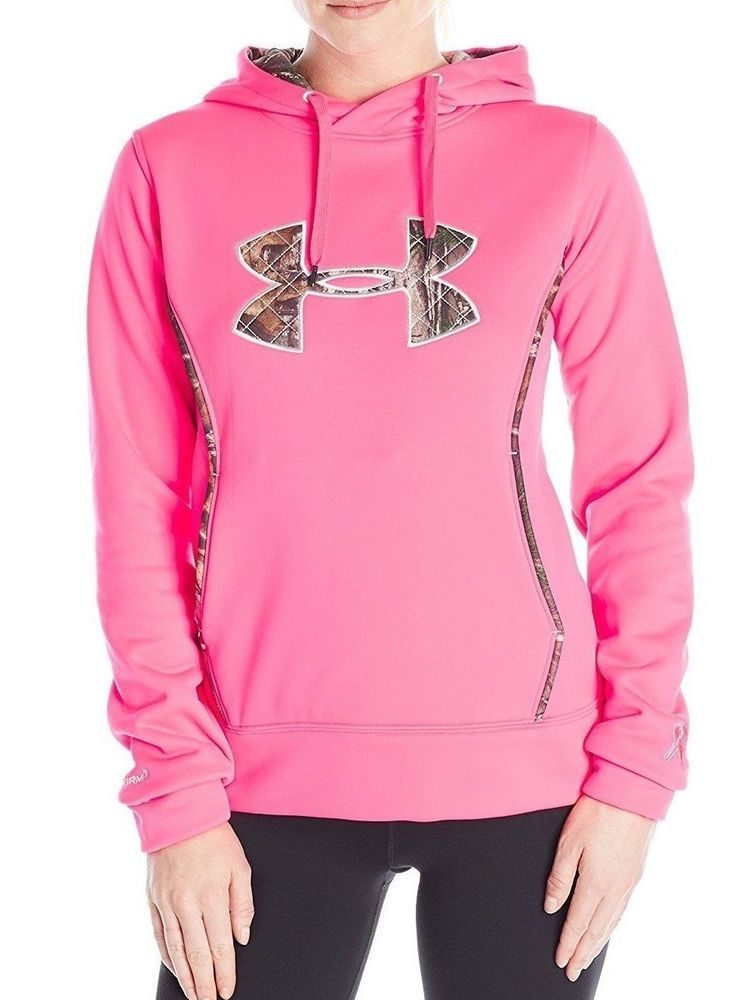 Under Armour Womens Storm Caliber Hoodie Pink Size M