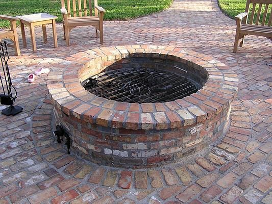 Patio fire pits are wonderful additions to any outdoor for Backyard brick fire pit