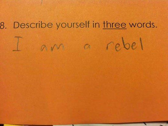 New Funny Test Answers Funny Test Answers from Smart Ass Kids: Borderline Genius | Team Jimmy Joe funny-test-answers-smart-ass-kids-rebel 2
