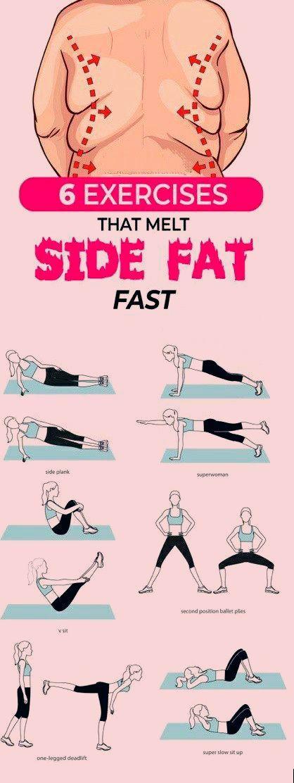 Übungen, die schnell und zuverlässig sog. Engelsflügel (Seitenfett) beseitigen #Workout #Fitness #Ge...