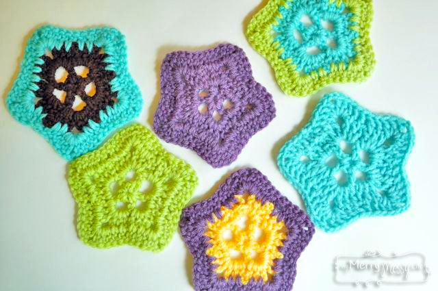 Crochet Lacy Star Applique Free Pattern Free Pattern Crochet