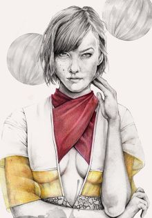 B L A C K B O K O R #illustration #karliekloss #vogue #fashionillustration