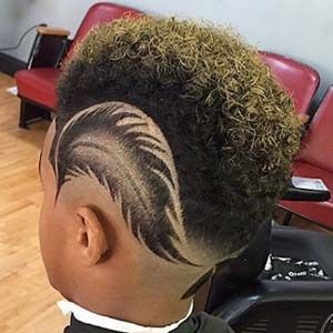 Feather Boys Faded Haircut Design Fade Haircut Designs Boys Haircuts With Designs Hair Styles