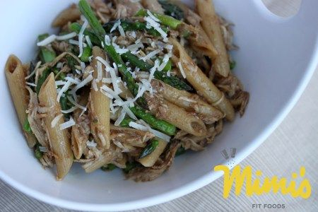 Roasted Asparagus and Chicken Pasta with Balsamic Butter|Mimi's Fit Foods