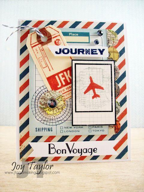 Bon Voyage - Less is More   Bon voyage cards, Bon voyage ...