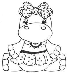 desenhos de hipopótamo para pintar colorir imprimir hipopótamos