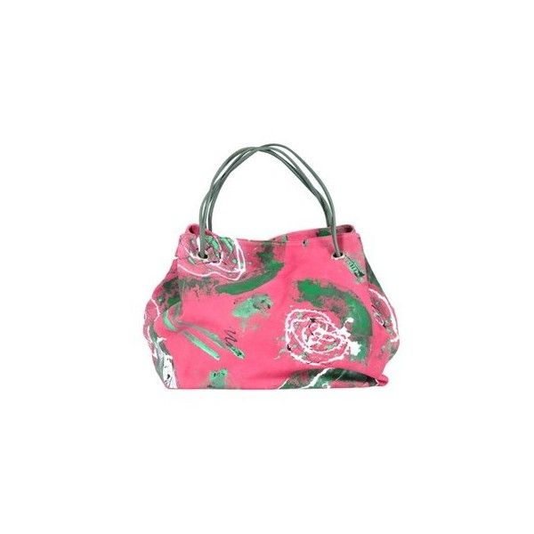 Deglupta Rododendro Bag (€1.045) ❤ liked on Polyvore featuring bags, handbags, pink, multi colored leather handbags, leather handbag purse, genuine leather handbags, pink purse and leather handbags