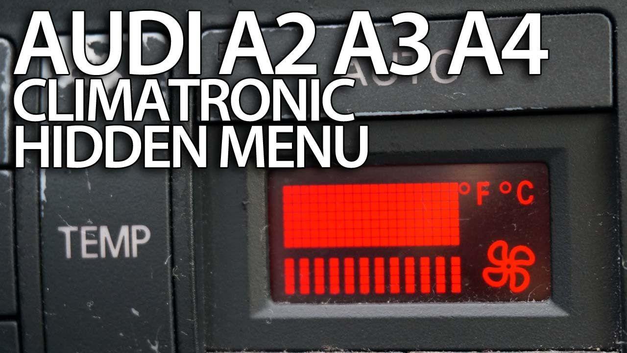 How To Enter Hidden Service Menu In Audi A2 A3 8l A4 B5 Climatronic Sec Audi A2 Audi Repair Manuals