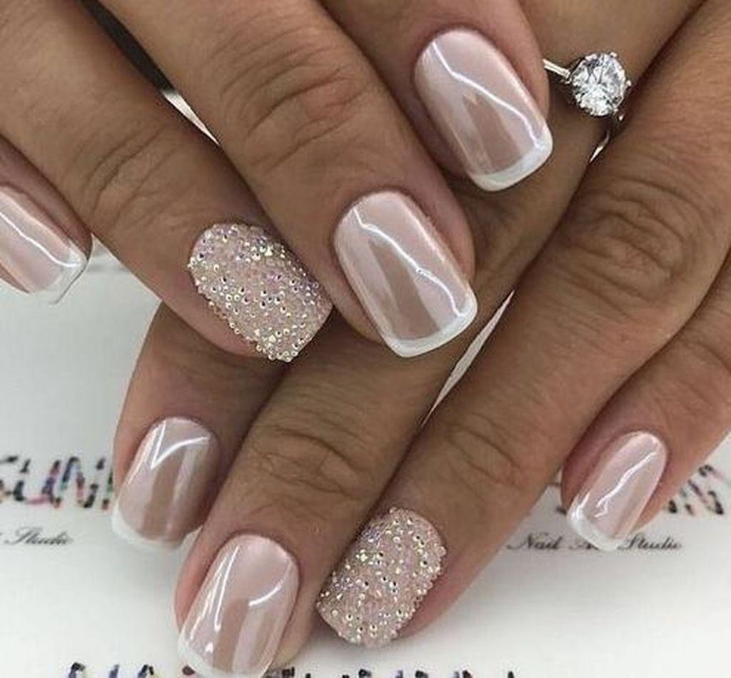 charming fall wedding nails