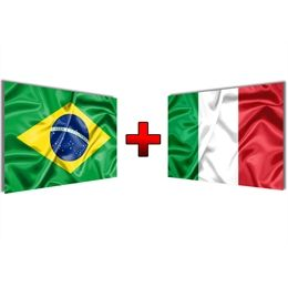 Kit De Bandeiras Brasil Italia Italia Bandeira Do Brasil Brasil E Italia