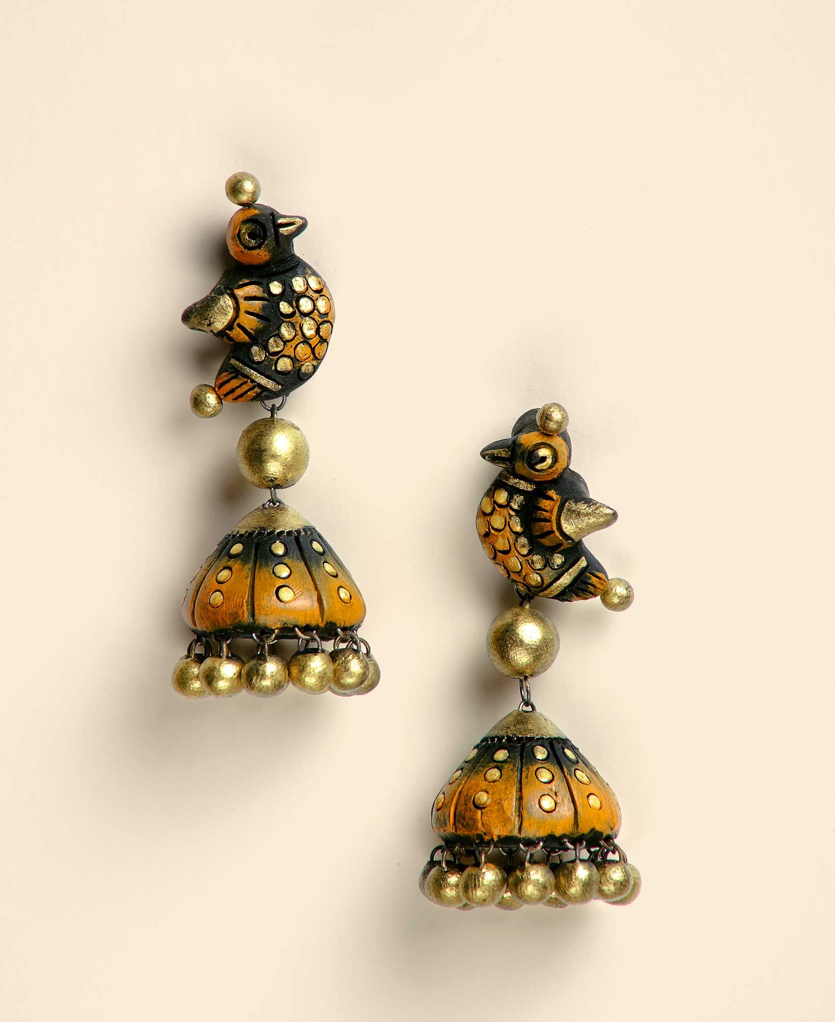 Perfect For A Little Girl! Terracota Jhumkas