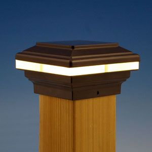 New - Saturn LED Post Cap Light by Aurora Deck Lighting