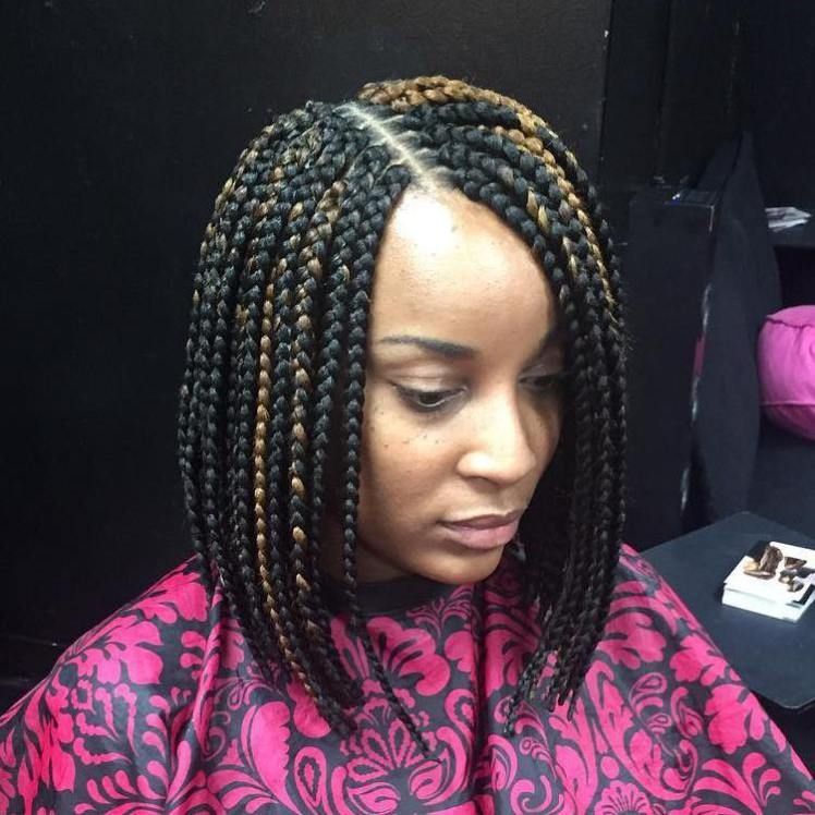 Black Bob Braids With Highlights Braids For Black Hair Bob Braids Bob Braids Hairstyles