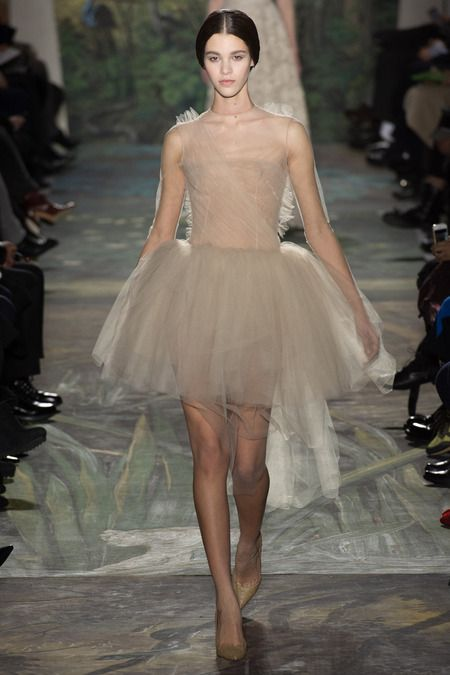 Valentino Spring 2014 Couture, nude dress