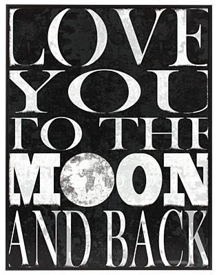 Love You To The Moon And Back Wall Art Love You Notable Quotes My Moms Best Friend