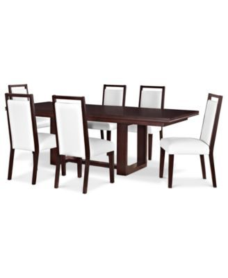 Belaire White 7 Piece Dining Room Furniture Set Dining Room