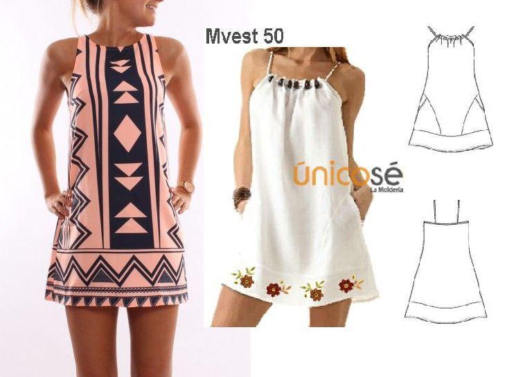 moldes vestidos tipo jumper - Buscar con Google | COSTURA ...
