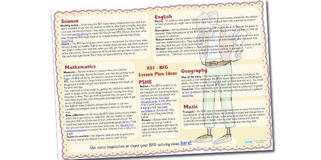 The+BFG+Lesson+Plan+Ideas+KS1 | The BFG | Pinterest | Ideas ...