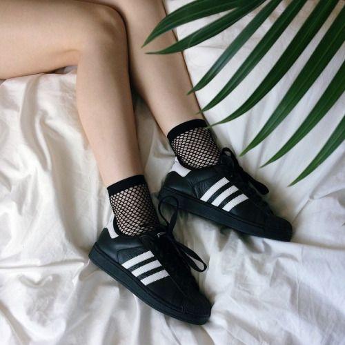 perdonado Oxidar cristiandad  Super cute #Adidas tee! We love adidas at #Sportdecals! Get custom Adidas  gear today! | Calcetines lindos, Fotografía de zapato, Moda negra