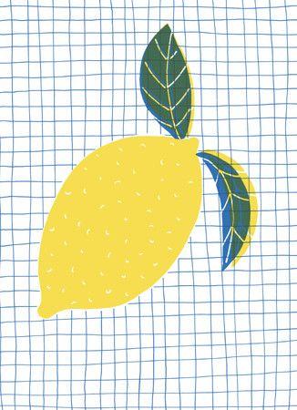 lemon design print pattern graph paper illustration screen