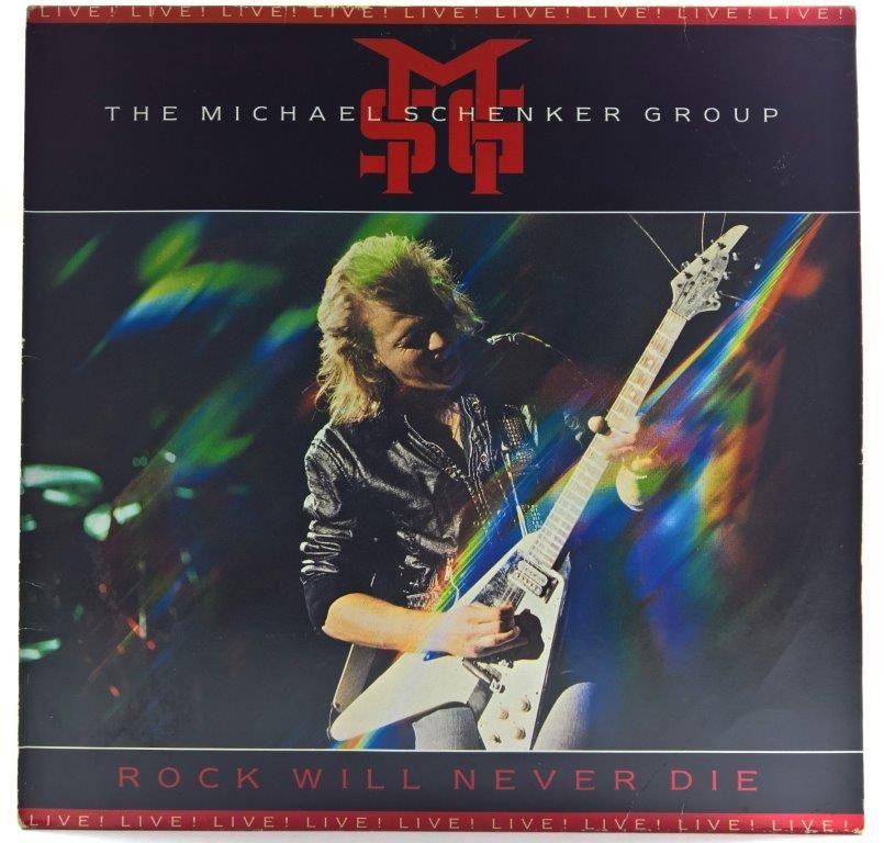 Michael Schenker Group Rock Will Never Die 1984 Ger Greatest Album Covers Rock Vinyl Music