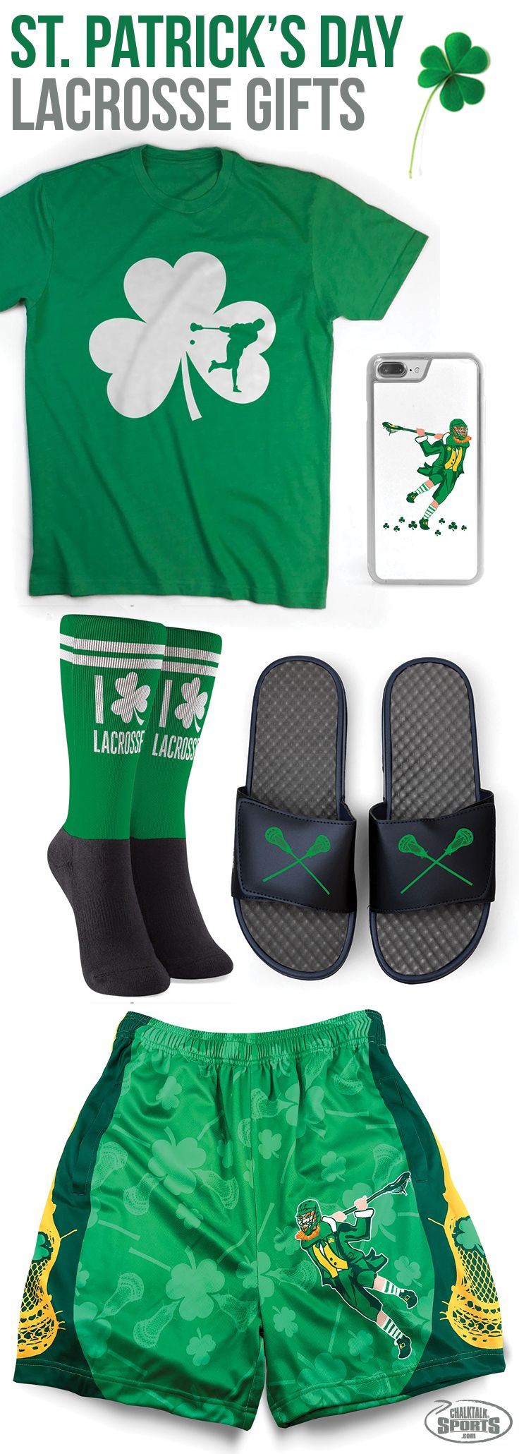 Bring the luck of the Irish with you on game day with our selection of fun and festive lacrosse St. Patrick's Day gifts!