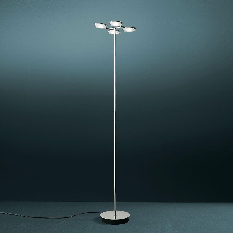 Nobi 4 (lighting): Floor lamp with double dimmer. Mounting in chrome ...