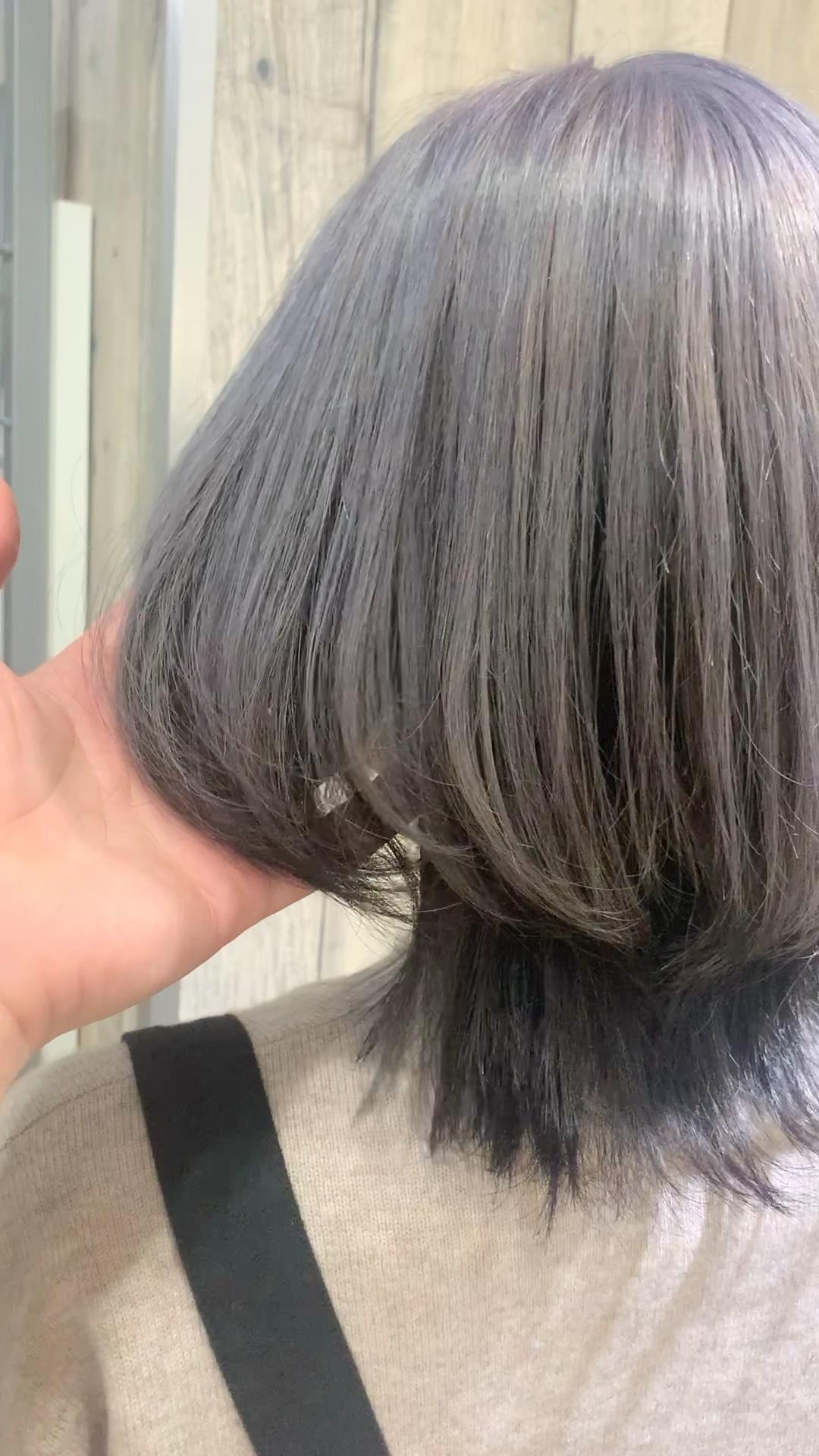 かわいい髪型 レディース ヘアスタイル ウルフカット グレー ラベンダー土屋 一貴|トムキャット(T