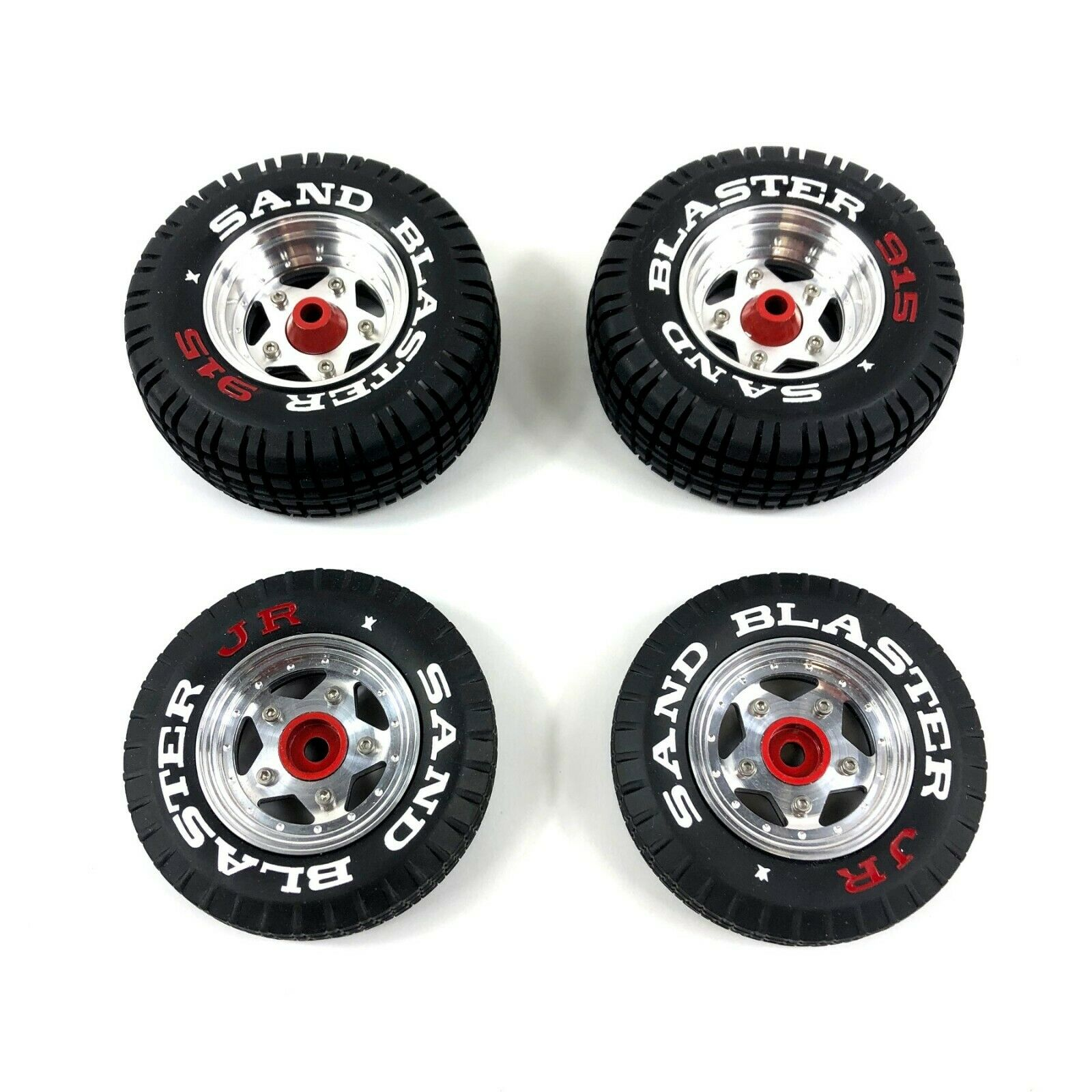 Rare Alloy Wheel Rim & Painted Sand Blaster Tire Set for