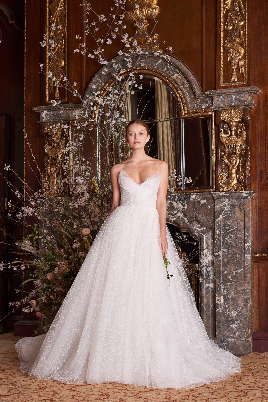 Dresses for summer wedding reception  Monique Lhuillier SpringSummer  Bridal  Wedding ideas