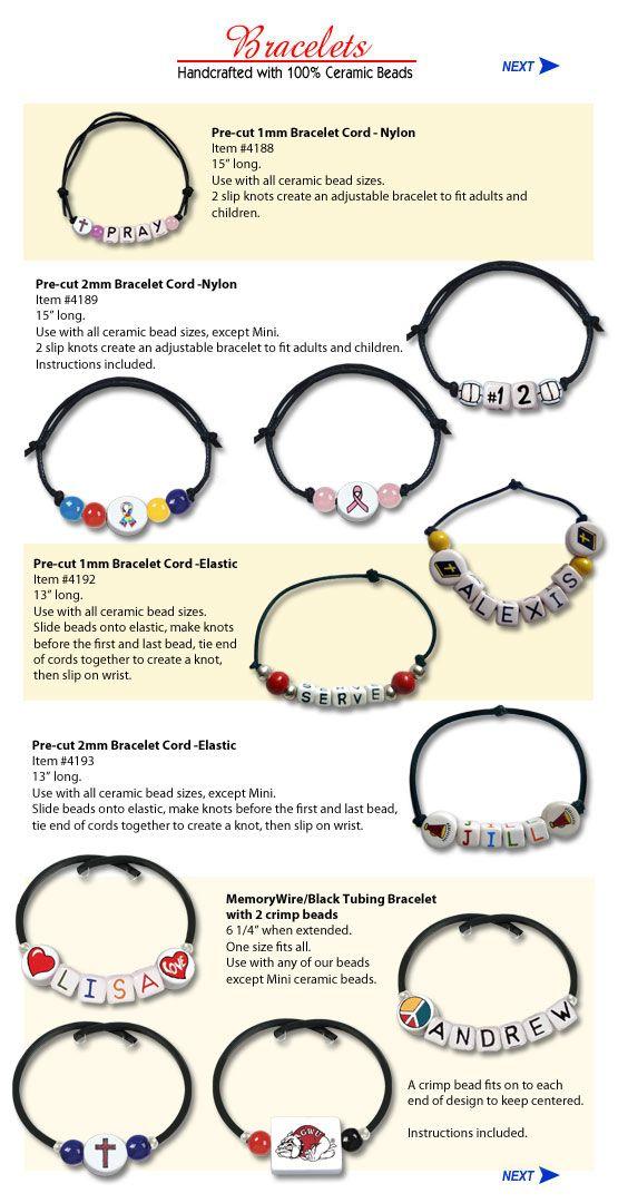 Bracelet Bead Ideas - Name Beads - alphabet letter beads, alpha ...