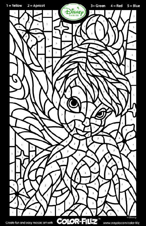Disney Fairies Tinkerbell Mosaic coloring page – Samantha Cadwalader ...