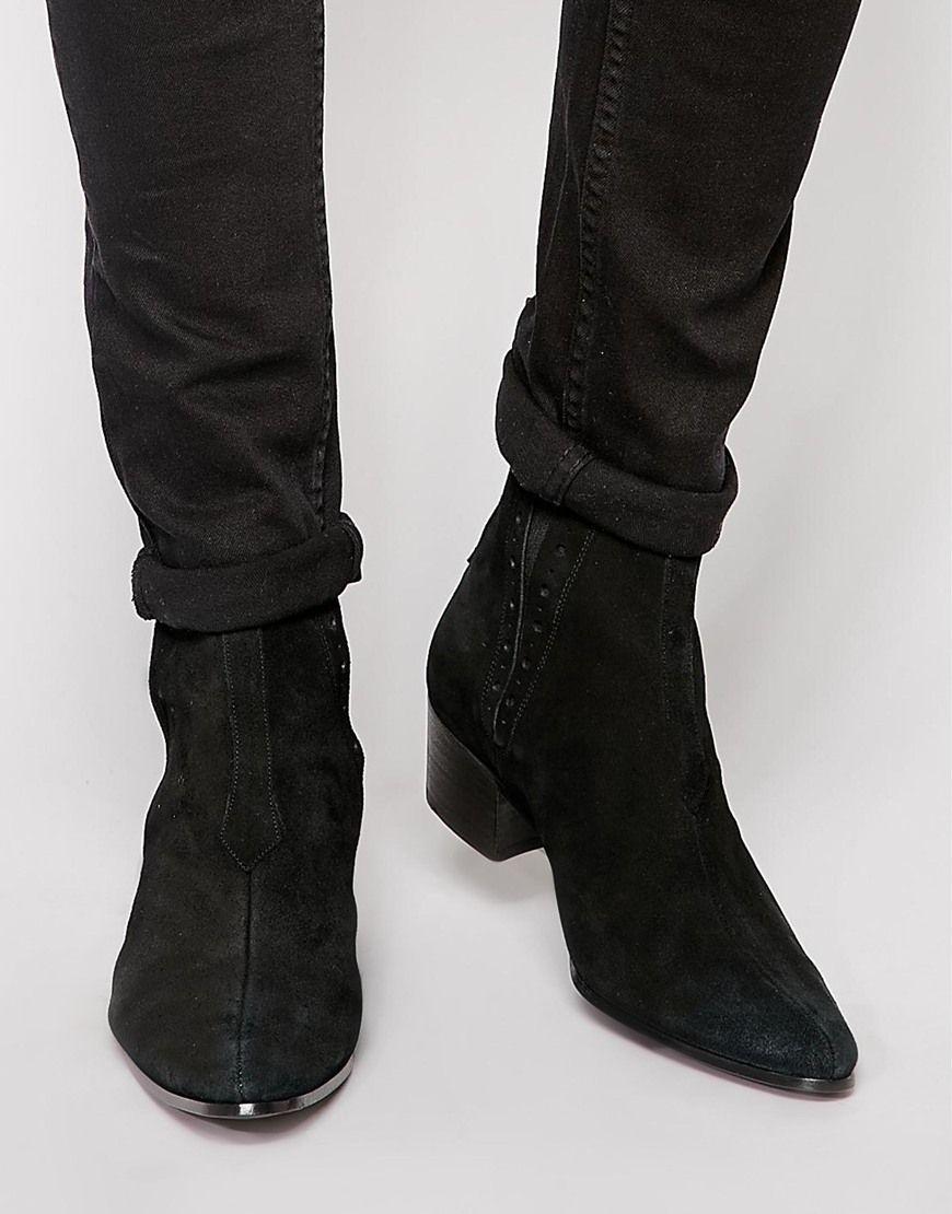 Jeffery West Suede Chelsea Boots At Asos Com Black Suede Chelsea Boots Ankle Boots Men Chelsea Boots Men
